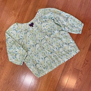 J. Crew x Liberty Cotton Peasant Blouse